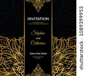 save the date invitation card... | Shutterstock .eps vector #1089399953