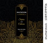 save the date invitation card... | Shutterstock .eps vector #1089399956