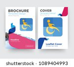 disability brochure flyer... | Shutterstock .eps vector #1089404993