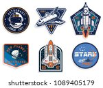 set of space and astronaut  ... | Shutterstock .eps vector #1089405179