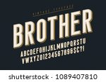 trendy vintage display font... | Shutterstock .eps vector #1089407810