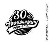 30 years anniversary design... | Shutterstock .eps vector #1089409124