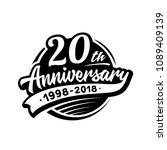 20 years anniversary design... | Shutterstock .eps vector #1089409139