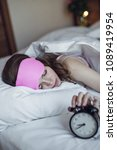 sleeping young girl with an... | Shutterstock . vector #1089419954
