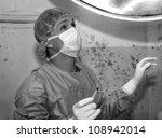 Shaded surgeon ask god before coming difficult surgery - stock photo