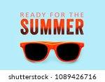 ready for the summer orange... | Shutterstock . vector #1089426716
