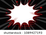 clear empty boom comic text...   Shutterstock .eps vector #1089427193