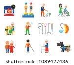 disabled icon set. blind... | Shutterstock .eps vector #1089427436