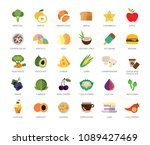 set of 33 vector icons... | Shutterstock .eps vector #1089427469