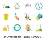cleaning icon set. cleaning... | Shutterstock .eps vector #1089429293