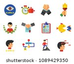 business planning icon set.... | Shutterstock .eps vector #1089429350