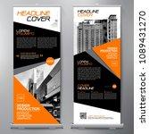 business roll up. standee... | Shutterstock .eps vector #1089431270