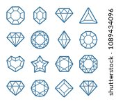diamond shapes icon set | Shutterstock .eps vector #1089434096