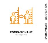 body mass index company logo... | Shutterstock .eps vector #1089434426