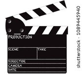 a director's clapper board... | Shutterstock .eps vector #1089445940
