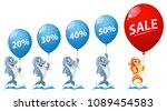 sale and discount percentages.... | Shutterstock .eps vector #1089454583