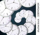 clock on a dark background.... | Shutterstock . vector #1089456434