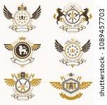 vector classy heraldic coat of...   Shutterstock .eps vector #1089457703