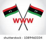 libya emblem world wide web | Shutterstock .eps vector #1089460334