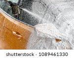 yellow car side mirror... | Shutterstock . vector #1089461330