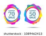 summer sale label. discount... | Shutterstock .eps vector #1089462413