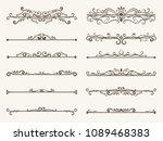 vector set of decorative... | Shutterstock .eps vector #1089468383