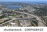 aerial view of i 95 expressway...   Shutterstock . vector #1089468410