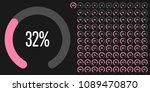 set of circular sector... | Shutterstock .eps vector #1089470870
