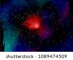 star field in space and a...   Shutterstock .eps vector #1089474509