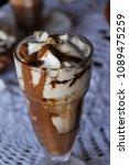 high caloric shake and frozen... | Shutterstock . vector #1089475259