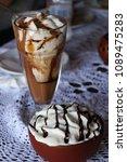 high caloric shake and frozen... | Shutterstock . vector #1089475283