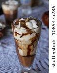 high caloric shake and frozen... | Shutterstock . vector #1089475286