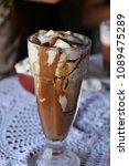 high caloric shake and frozen... | Shutterstock . vector #1089475289