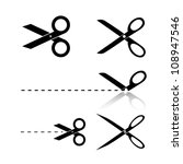 scissors template   Shutterstock .eps vector #108947546