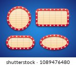 retro cinema or theater lights... | Shutterstock .eps vector #1089476480