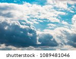 lead clouds  against the blue... | Shutterstock . vector #1089481046