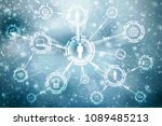 2d illustration technology...   Shutterstock . vector #1089485213