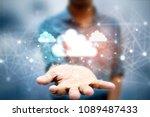 2d rendering cloud computing  | Shutterstock . vector #1089487433
