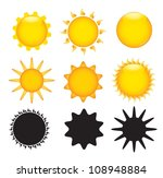 Sun In Different Sizes  Colors...