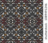embroidery colorful pattern... | Shutterstock .eps vector #1089491246