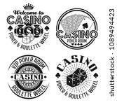 casino and gambling set of four ... | Shutterstock .eps vector #1089494423