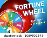 fortune wheel read more... | Shutterstock .eps vector #1089501896