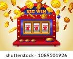 slot machine with big win... | Shutterstock .eps vector #1089501926