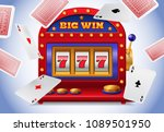 lucky seven slot machine and... | Shutterstock .eps vector #1089501950