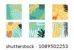 abstract collage artboards set. ... | Shutterstock .eps vector #1089502253