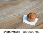 banana cup cake on the table | Shutterstock . vector #1089503783