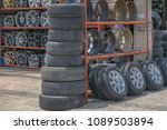 editorial use only  car tires... | Shutterstock . vector #1089503894