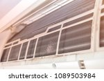 fin of  air condition. dust... | Shutterstock . vector #1089503984