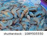 fresh shrimp in the market | Shutterstock . vector #1089505550