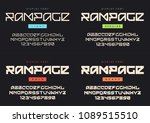 vector modern display font... | Shutterstock .eps vector #1089515510